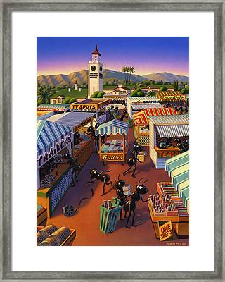 Ants At The Hollywood Farmers Market Framed Print