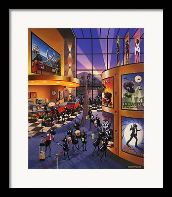 Movie Theatre Paintings Framed Prints