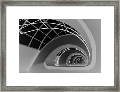 Antwerp-stairs Framed Print by Jan Niezen