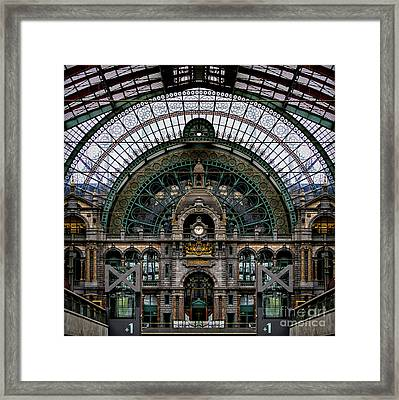 Antwerp Train Terminal Framed Print by Doug Sturgess