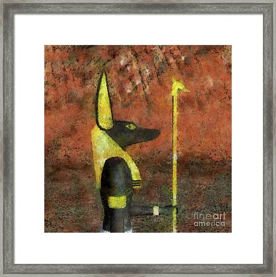 Anubis God Of Egypt By Raphael Terra Framed Print
