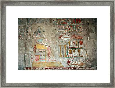 Anubis, Jackal-headed God Of Mummification Framed Print