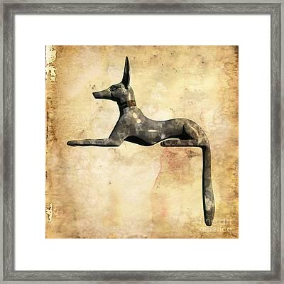 Anubis, Pop Art By Mary Bassett Framed Print