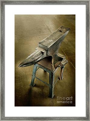 Anvil And Hammer Framed Print by YoPedro
