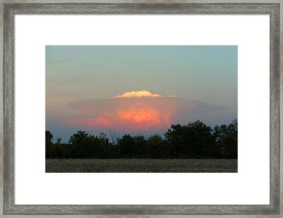 Framed Print featuring the digital art Anvil Cloud Over Kirksville, Mo by Jana Russon