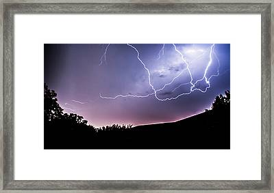 Anvil Crawlers At Night Framed Print by Shelby  Young