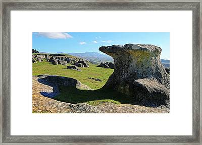 Anvil Rock Framed Print by Nareeta Martin
