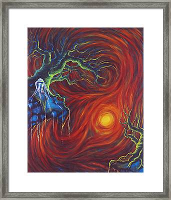 Anxiety Framed Print by Jennifer McDuffie
