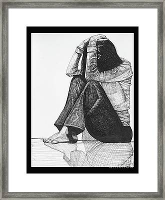 Anxiety Framed Print by Jessica Browne-White