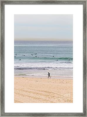 Any Day's A Good Day To Surf Framed Print by Linda Lees
