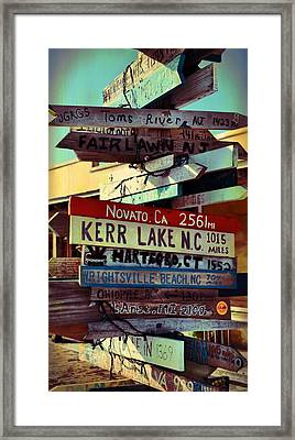 Any Destination Framed Print by JAMART Photography
