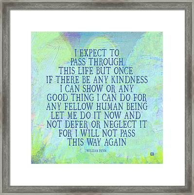 Framed Print featuring the painting Any Good Thing by Lisa Weedn
