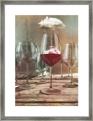 Any Port In A Storm Framed Print by Cynthia Decker