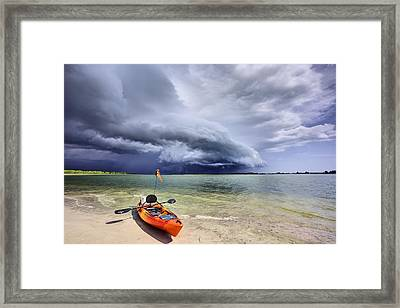Any Port In A Storm Framed Print by JC Findley