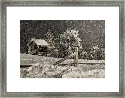 Any Port In A Storm Framed Print by Lois Bryan