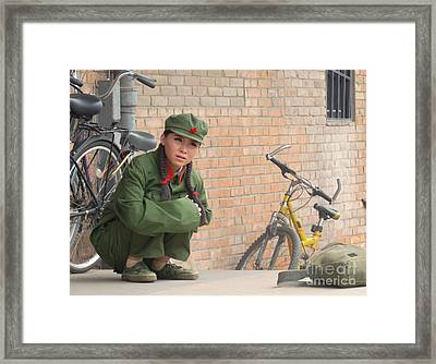 Any Questions? Framed Print