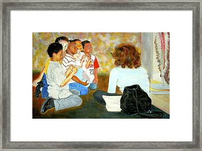 Anybody Listening Framed Print by G Cuffia
