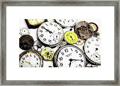 Anybody Really Know What Time It Is Framed Print