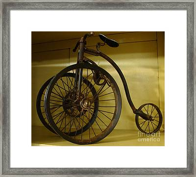 Framed Print featuring the painting Anyone For A Bike Ride?  by Rod Jellison