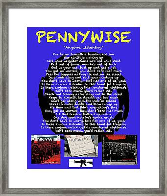 Anyone Listening - Pennywise Framed Print
