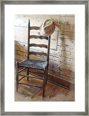 Anywhere I Hang My Hat Framed Print by Ellen Cannon
