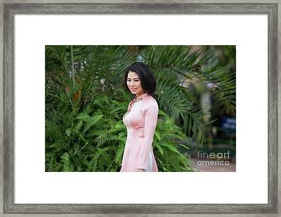 Ao Dai Beauty Hanoi  Framed Print