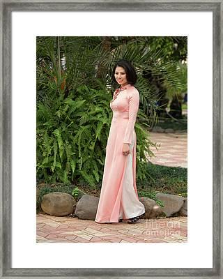 Ao Dai Fashion Hanoi  Framed Print