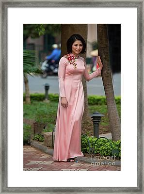 Ao Dai Fashion Hoan Kiem Lake  Framed Print