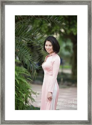 Ao Dai National Costume Vietnam Framed Print