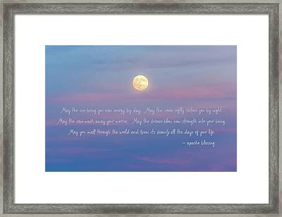 Apache Blessing Harvest Moon 2016 Framed Print by Terry DeLuco