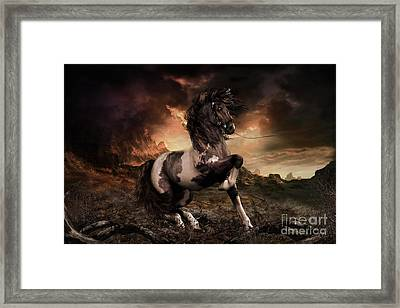 Apache Blue Landscape Format Framed Print by Shanina Conway