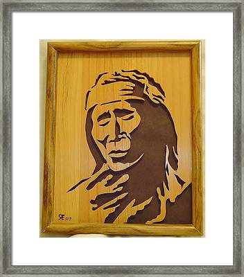 Apache Brave Framed Print by Russell Ellingsworth