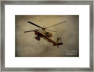 Apache Desert Takoff Framed Print by Randy Steele