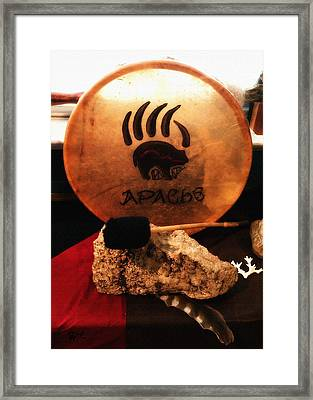 Apache Drum Framed Print by Ayasha Loya