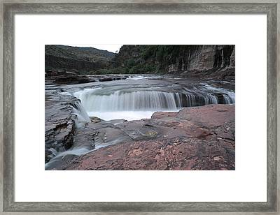 Apache Falls Framed Print by Jeff Swan