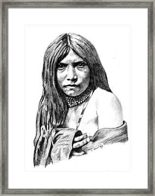 Apache Girl Zosh Clishn Framed Print