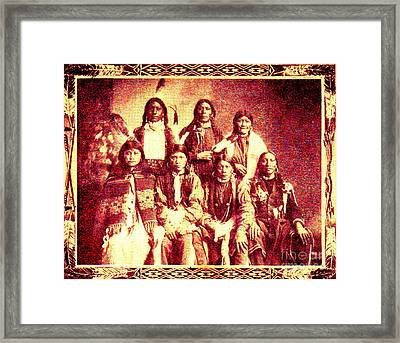 Apache Indian Chiefs, 1900 Framed Print