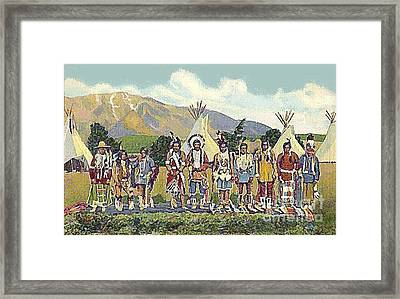 Apache Indians In Camp 1950's Framed Print
