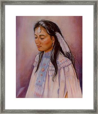 Framed Print featuring the painting Apache Maiden by Ann Peck