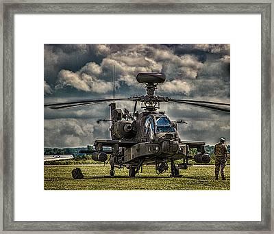Apache Framed Print by Martin Newman