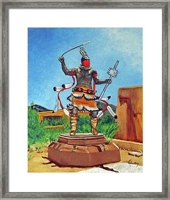 Apache Mountain Spirit Dancer Framed Print