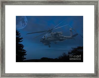 Apache Night Framed Print by Randy Steele