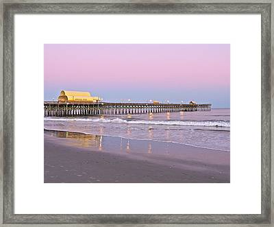 Apache Pier Sunset Framed Print