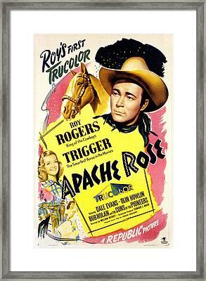 Apache Rose, Roy Rogers, Dale Evans Framed Print