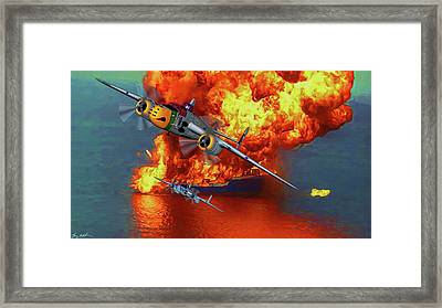 Apache Strike - Oil Framed Print