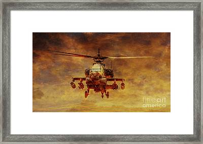 Apache Sunset Framed Print by Randy Steele