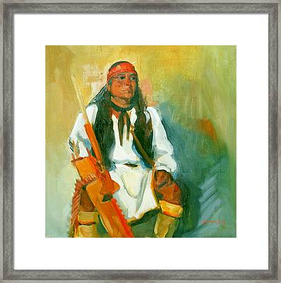 Apache Urban Warrior Framed Print