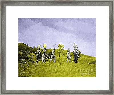 Apache Warriors, Arizona, 1910 Framed Print