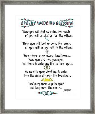 Apache Wedding Blessing Framed Print