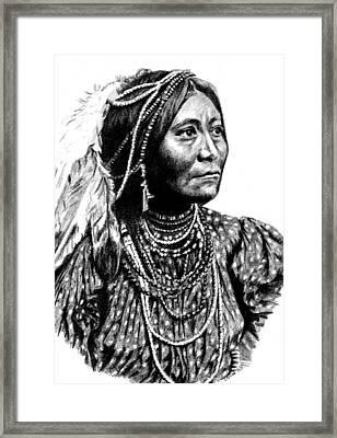 Apache Woman Framed Print